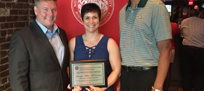 Miller-McEachern Presented With Excellence in Sports Leadership Award